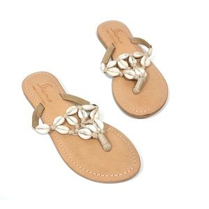 SKEMO Cowrie Shell Thong Sandals